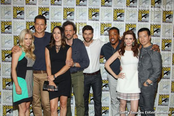 """L'équipe de """"Grimm"""" au Comic-Con 2013."""