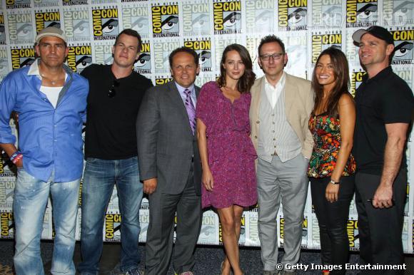 """Les acteurs de """"Person of Interest"""" au Comic-Con 2013."""