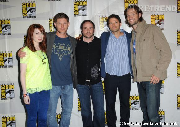 """Le casting de """"Supernatural"""" au Comic-Con 2013."""