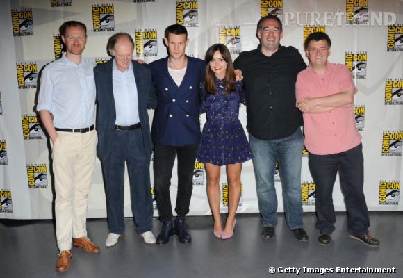 """L'équipe de """"Doctor Who"""" au Comic-Con 2013."""