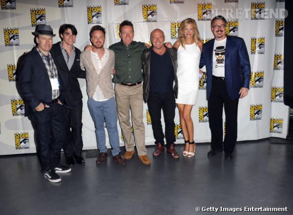 """Les acteurs de """"Breaking Bad"""" au Comic-Con 2013."""