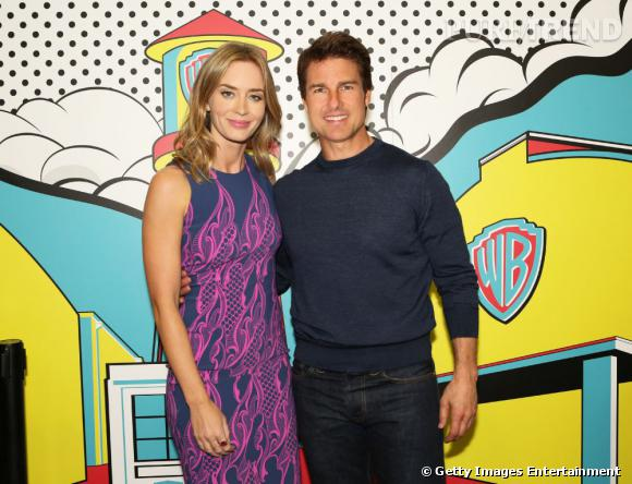 Emily Blunt et Tom Cruise au Comic-Con 2013.