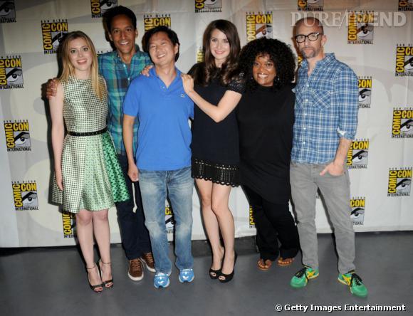 """L'équipe de """"Community"""" au Comic-Con 2013."""