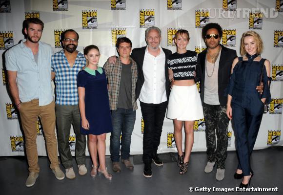 """Les acteurs de """"Hunger Games : Catching Fire"""" au Comic-Con 2013."""