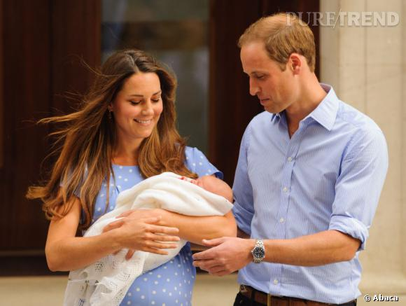 Kate Middleton et le Prince William : première apparition avec le petit Prince.