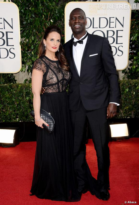 Omar Sy et sa compagne aux Golden Globes.