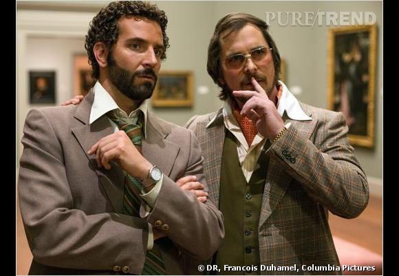 """Bradley Cooper et Christian Bale dans """"American Hustle""""."""