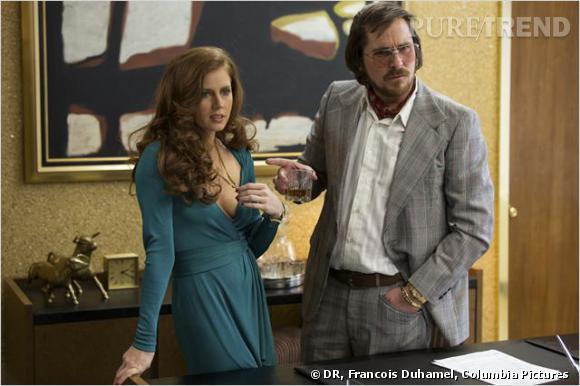 """Christian Bale et Amy Adams, les amants terribles dans """"American Hustle""""."""