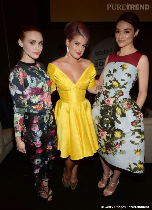 Holland Roden, Kelly Osbourne et Crystal Reed à la soirée des Young Hollywood Awards.