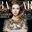 Scarlett Johansson en couverture du numéro de septembre 2013 du  Harper's   Bazaar .