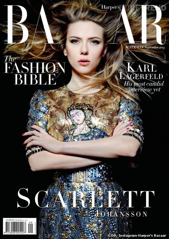 Scarlett Johansson en couverture du numéro de septembre 2013 du Harper's Bazaar.