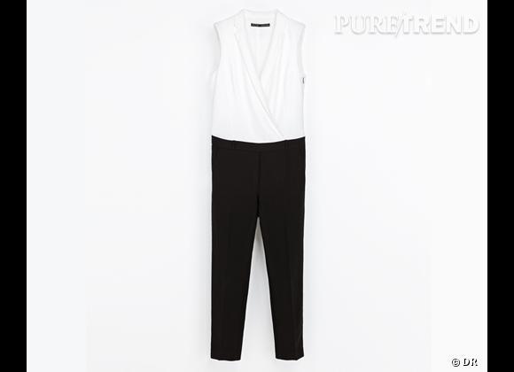 comme les stars osez la combinaison combi pantalon bicolore zara 79 95. Black Bedroom Furniture Sets. Home Design Ideas