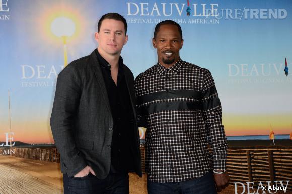 "Channing Tatum et Jamie Foxx au photocall du film ""White House Down""."