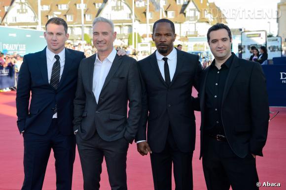 Channing Tatum et Jamie Foxx duo sexy sur tapis rouge au Festival du film américain de Deauville.