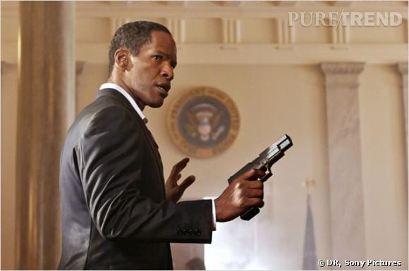 """Dans """"White House Down"""" Jamie Foxx incarne le rôle du président des États-Unis."""