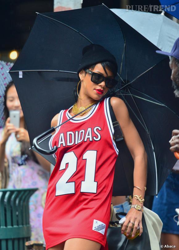 Rihanna sans pantalon dans les rues de New York le 2 septembre 2013.