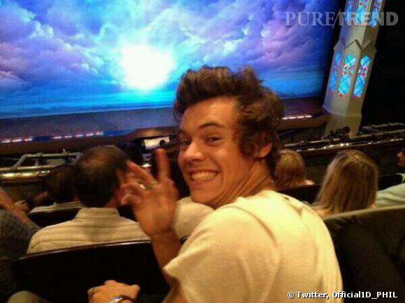 """Harry Styles est venue voir la comédie musicale """"The book of mormon""""."""