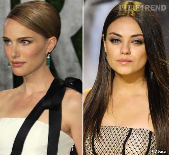 Natalie Portman et Mila Kunis, deux styles, deux beautés différentes et opposées. C'est le match beauté.