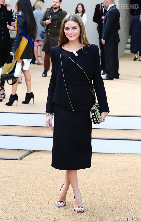 Olivia Palermo au défilé Printemps-Été 2014 Burberry Prorsum.