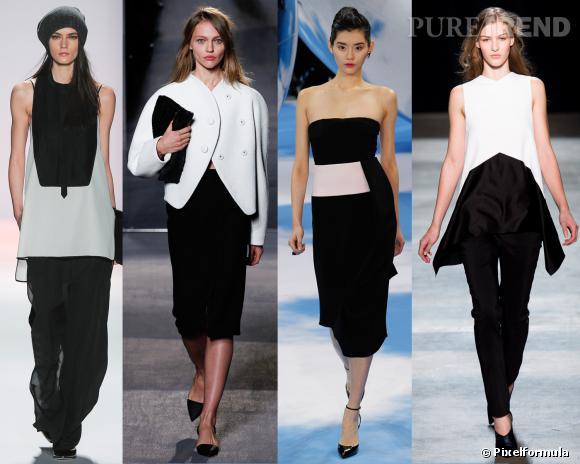 Les couleurs tendances de l'AW 13/14 : le black & white     Défilés BCBG Max Azria, Proenza Schouler, Christian Dior et Narciso Rodriguez