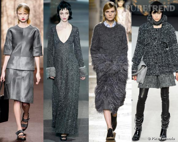 Les couleurs tendances de l'AW 13/14 : le gris anthracite     Défilés Marni, Louis Vuitton, Dries van Noten et Chanel