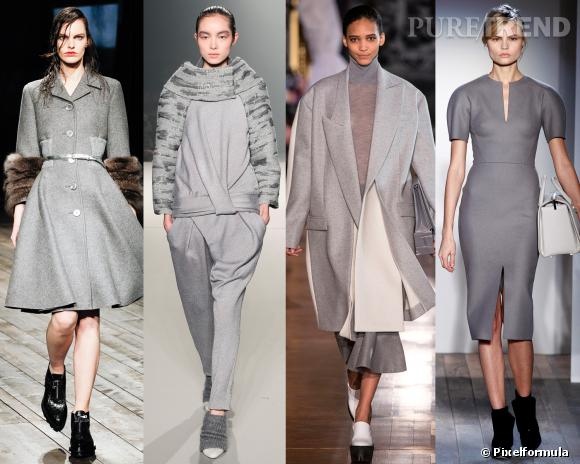 Les couleurs tendances de l'AW 13/14 : le gris souris Défilés Prada, Alexander Wang, Stella McCartney et Victoria Beckham