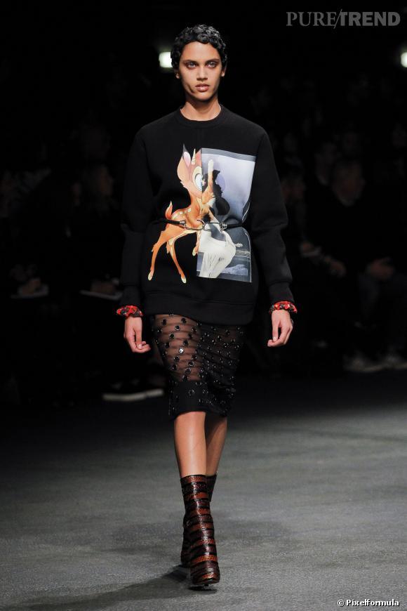 La tendance régressive sur les podiums : défilé Givenchy AW13/14, le sweat Bambi