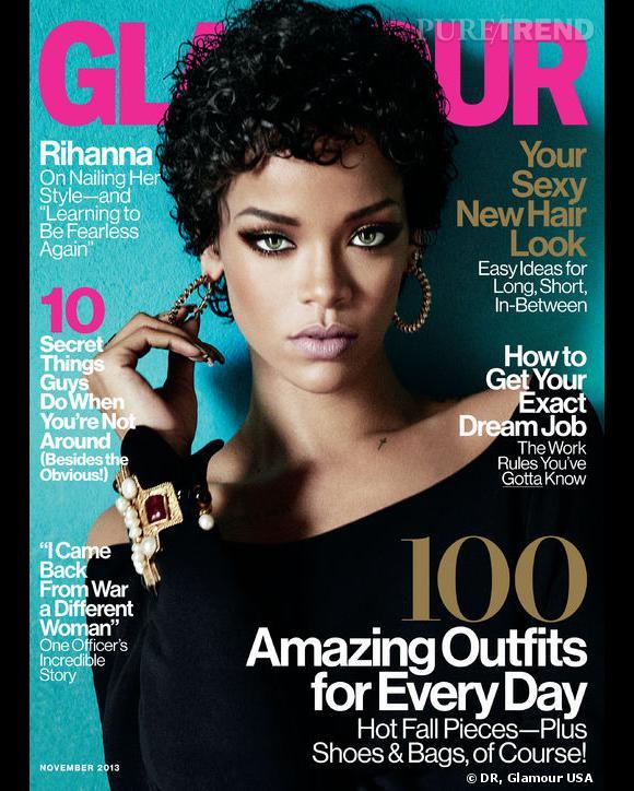 Rihanna fait la couverture du Glamour de novembre, version américaine.