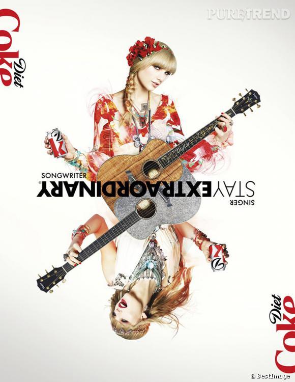 Affiche publicitaire de Taylor Swift pour Diet Coke.