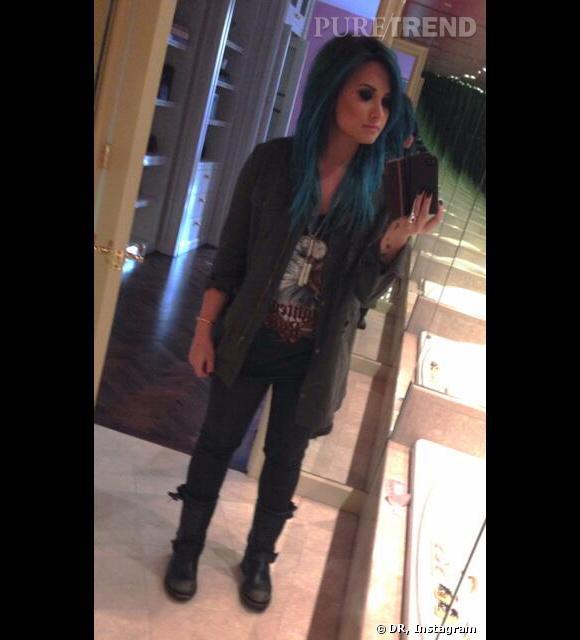 Demi Lovato s'est teint les cheveux en bleu !