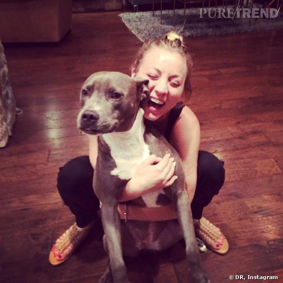Kaley Cuoco n'aime pas que Ryan Sweeting, elle adore aussi ses chiens !