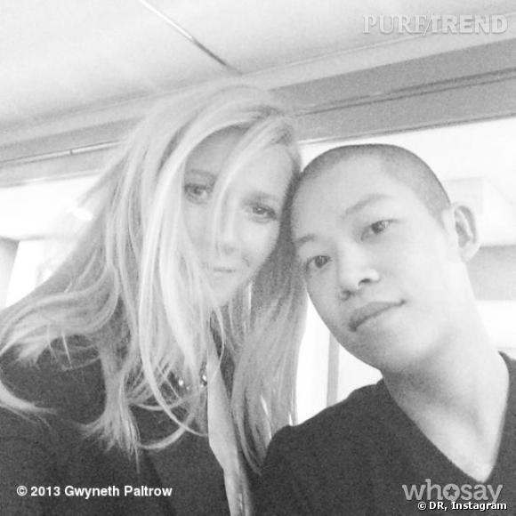 Gwyneth Paltrow a ouvert son compte Instagram ! Mais pour l'instant, il est assez vide, à part cette photo avec Jason Wu.