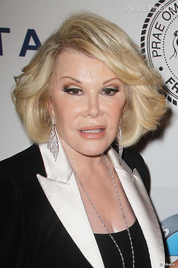"""Joan Rivers : """"Lindsay Lohan est tellement bête. Elle imagine que prêter serment signifie proférer des insultes devant le juge""""."""