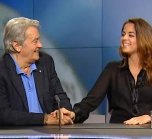 Anouchka et Alain Delon sur le plateau de la chaîne suisse RTS.
