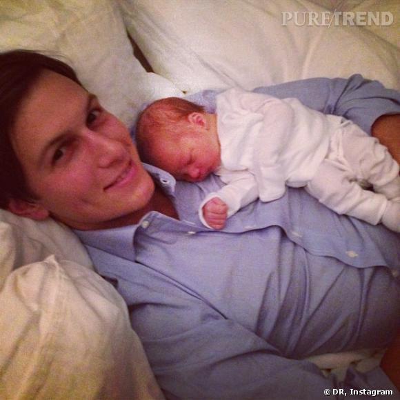 Ivanka Trump a publié une photo de son mari, dans un tendre moment câlin avec son nouveau-né.