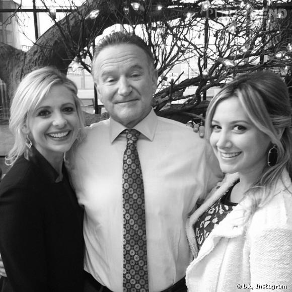 """Ashley Tisdale s'invite sur le tournage de """"The Crazy Ones"""" avec Sarah Michelle Gellar et Robin Williams !"""