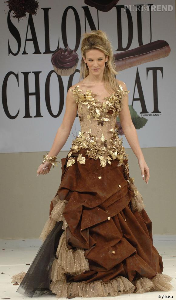 """Lorie lors de son défilé au """"Salon du Chocolat""""."""
