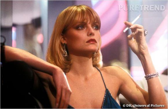 "Michelle Pfeiffer dans ""Scarface"" en 1983."