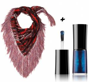 Louis Vuitton, Chanel, Givenchy : vernis à ongles et foulards, nos duos glamour