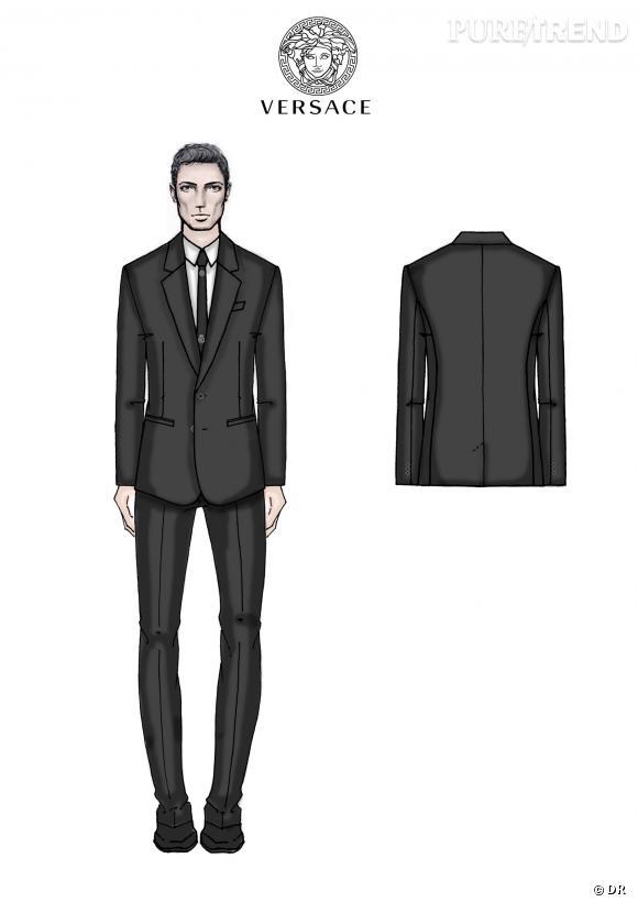 Les croquis des costumes Versace pour le Real Madrid C.F..