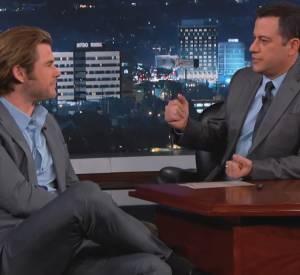 Chris Hemsworth parle de son régime chez Jimmy Kimmel.