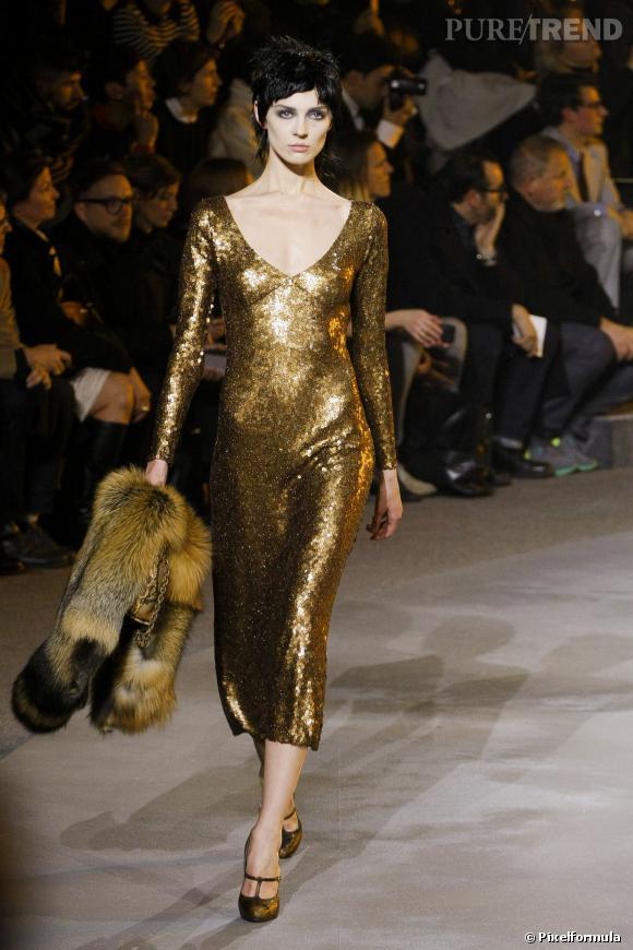 Sequins, strass et paillettes vus chez Marc Jacobs, défilé Automne-Hiver 2013/2014