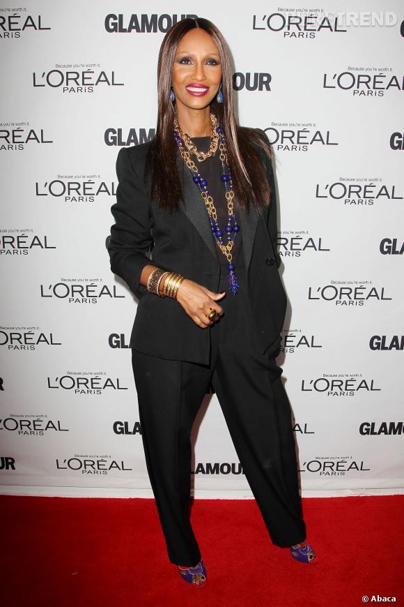 Iman à la soirée des Glamour Women Of The Year Awards 2013.