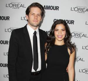 America Ferrera et son mari Ryan Piers Williams à la soirée des Glamour Women Of The Year Awards 2013.