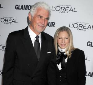 Barbra Streisand et son mari James Brolin à la soirée des Glamour Women Of The Year Awards 2013.