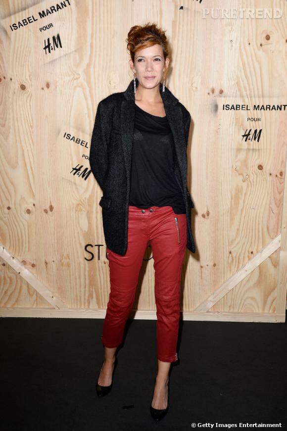 Mélanie Doutey en Isabel Marant pour H&M.