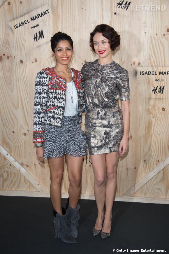 Freida Pinto et Olga Kurylenlo en Isabel Marant pour H&M.