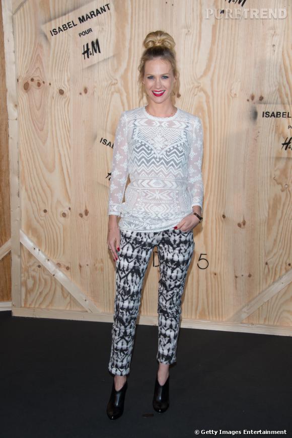 January Jones en Isabel Marant pour H&M.