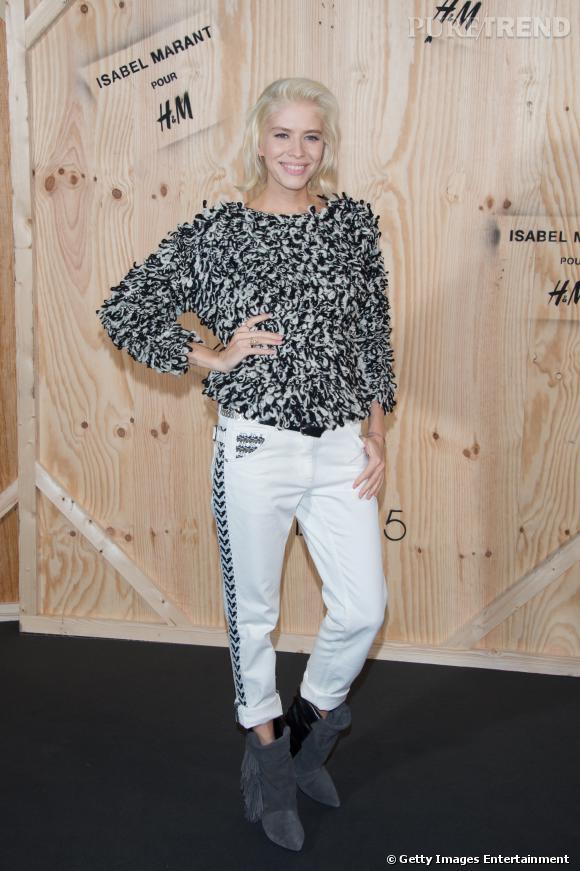 Elena Perminova en Isabel Marant pour H&M.