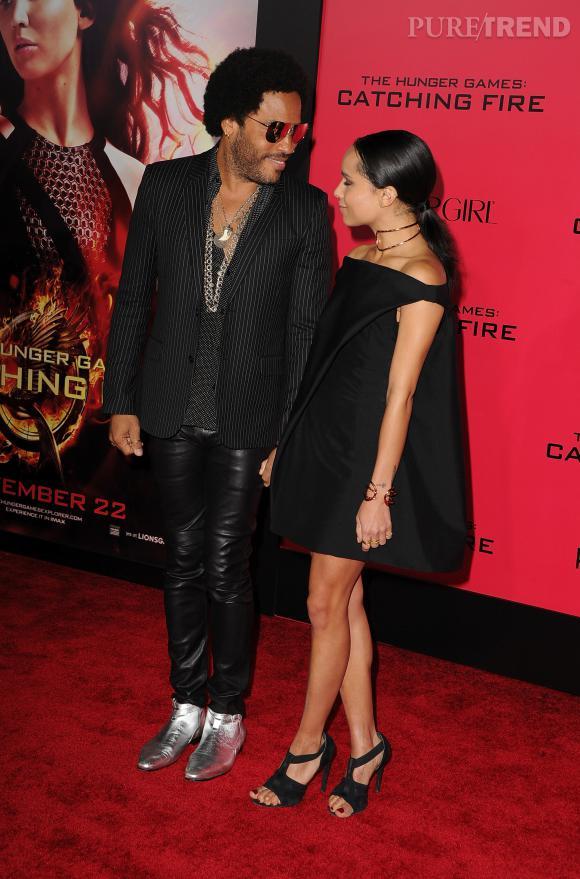 Lenny Kravitz et Zoë Kravitz, joli tandem rock'n'roll.